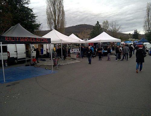 Parc d'assistance du rallye des vignes de Régnié 2017