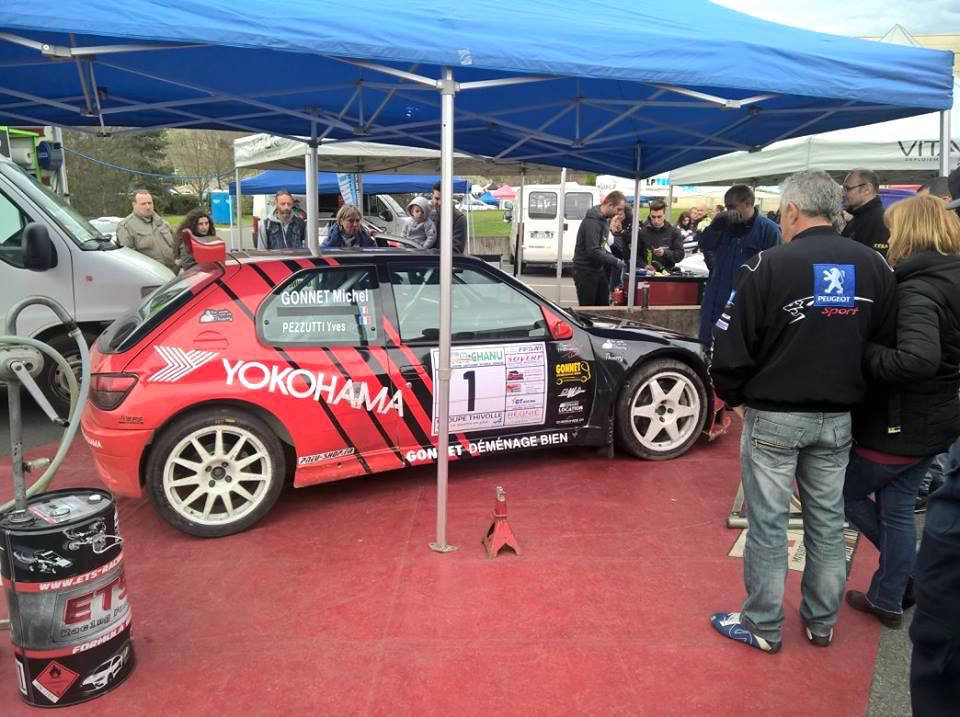 assistance de yves pezzutti et michel gonnet sur peugeot 306 maxi au rallye des vignes de r gni. Black Bedroom Furniture Sets. Home Design Ideas
